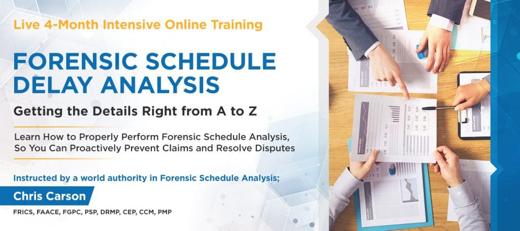 Forensic Schedule Delay Analysis Training Getting The Details Right